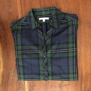 Green Plaid Foxcroft Buttondown Shirt